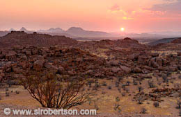 Damaraland Sunset (2) - Click for large image