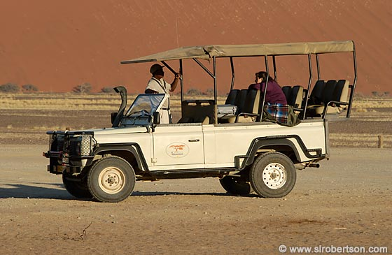 Photo: Safari Truck at Sossusvlei
