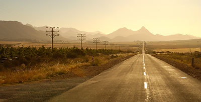 Across the Little Karoo toward Calitzdorp, South Africa