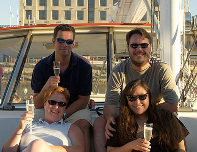 Scott, Nicci, Hilde and Stijn, Table Bay Cruise