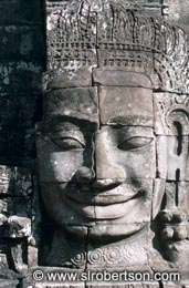 Smiling Buddha, Bayon - Click for large image