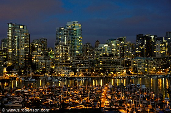 Vancouver Skyline Night 2
