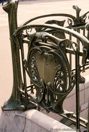 Photo of Art Nouveau Railing, Metro Station, Paris - Scott L ...