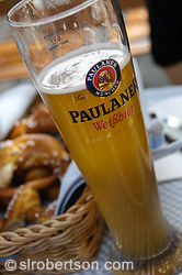 Munich White Beer and Pretzels