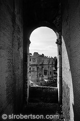 Arch of Titus View From Colosseum BW