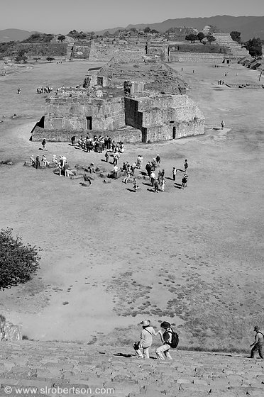 Monte Alban Building J 2 BW
