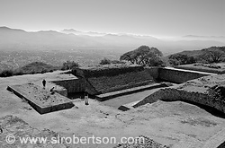Monte Alban Ball Court 1 BW