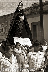 Virgin Mary Procession, Mitla 1 BW