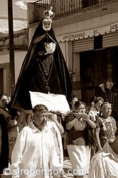 Virgin Mary Procession, Mitla 9 BW