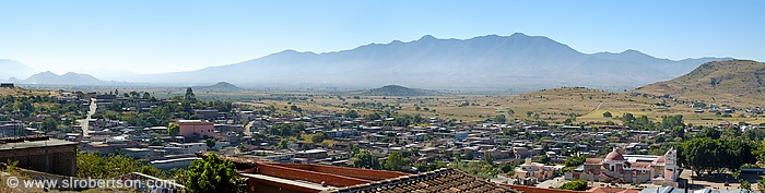 Teotitlan Skyline Panorama 1
