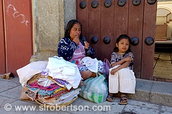 Zapotec Woman and Child Selling Dresses 3