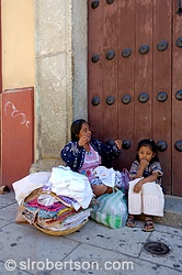 Zapotec Woman and Child Selling Dresses 4