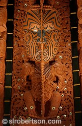 Maori meeting house panel carving, Auckland War Memorial Museum, Te Papa Whakahiku