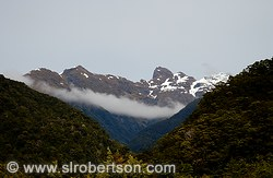 Mountain range in Fiordland