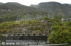Hydroelectric power station on Lake Manapouri