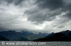 Storm clouds over Lake Manapouri