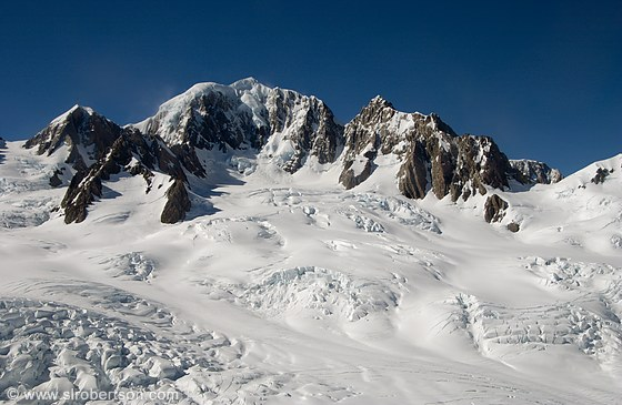 Photo Of Snow Covered Peaks At Top Of Fox Glacier  Scott L Robertson Photog