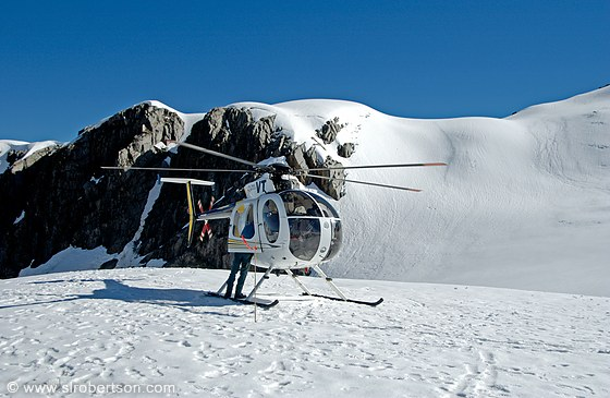Photo Of Helicopter On Snow Pack Fox Glacier  Scott L Robertson Photography