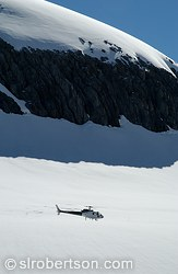 Helicopter on Fox Glacier