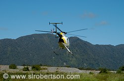 Helicopter taking off for aerial tour of Franz Joseph and Fox Glaciers