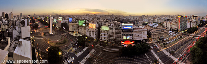 Buenos Aires Skyline at Dusk Panorama