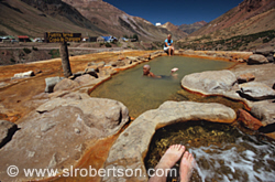 Hot springs swimming, Copa de Champagne, Puente del Inca