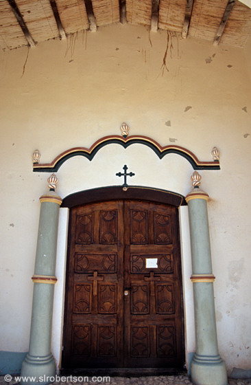 Colonial church doorway, Angastaco