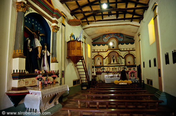 Colonial church interior, Angastaco