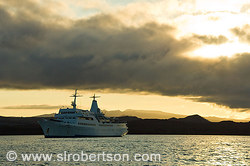 Galapagos Ship Sunset 2