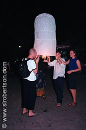 Candle-Powered Paper Balloon (1) - Click for large image