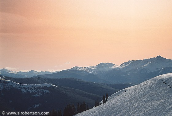 Back Bowl Sunset, Vail, Colorado