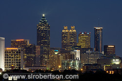 Downtown Atlanta Skyline at Night 1