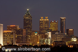 Downtown Atlanta Skyline at Night 2