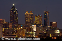 Downtown Atlanta Skyline at Night 3