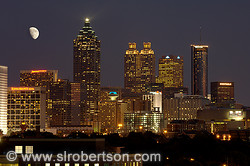 Downtown Atlanta Skyline at Night 4