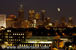 Downtown Atlanta Skyline at Night 5