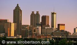 Downtown Atlanta Skyline at Sunset 1