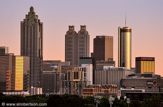 photo of downtown atlanta skyline at sunset 2 scott l robertson