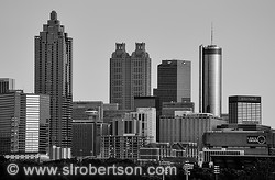 Downtown Atlanta Skyline at Sunset 2 BW