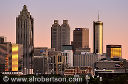 Downtown Atlanta Skyline at Sunset 2