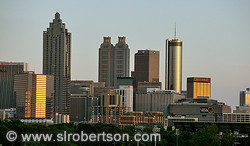 Downtown Atlanta Skyline at Sunset 3