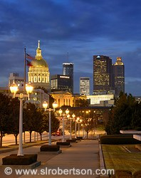 Atlanta Skyline and Georgia State Capitol Building