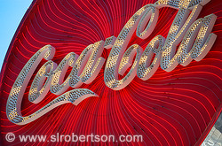 Coca-Cola Neon Sign Closeup, Atlanta