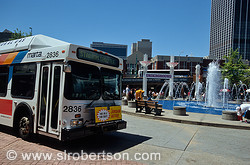 MARTA Bus Stadium Shuttle at Underground Atlanta 1