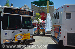 MARTA Bus Stadium Shuttle at Underground Atlanta 2
