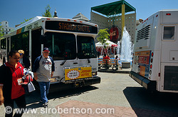 MARTA Bus Stadium Shuttle at Underground Atlanta 3