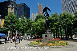 Woodruff Park statue: Atlanta From the Ashes, Downtown Atlanta