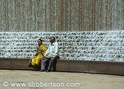 Indian Couple at Woodruff Park Fountain, Atlanta