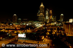 Midtown Atlanta Skyline at Night 1