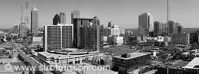 Midtown Atlanta skyline panorama looking north